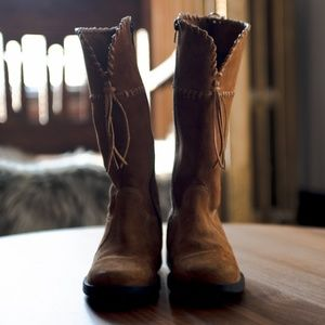 Naturino Suede Zip Moccasin Boots